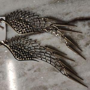 TIARA gold tone nickel free Angel earrings